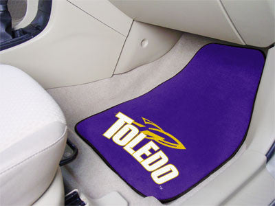 The UT Rockets 2 Piece Carpeted University of Toledo Car Floor Mat Set - FanMats 5486