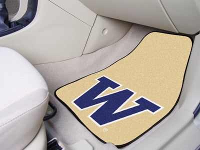 The UW Huskies 2 Piece Carpeted University of Washington Car Floor Mat Set - FanMats 5491