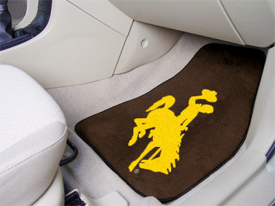 The Wyoming Cowboys 2 Piece Carpeted University of Wyoming Car Floor Mat Set - FanMats 5497