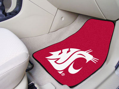 The WSU Cougars 2 Piece Carpeted Washington State University Car Floor Mat Set - FanMats 5509