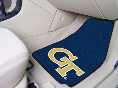 The GT Yellow Jackets 2 Piece Carpeted Georgia Tech Car Floor Mat Set - FanMats 5535