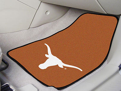 The UT Longhorns 2 Piece Carpeted University of Texas Car Floor Mat Set - FanMats 5641