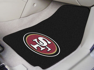 San Francisco 49ers Carpet Car Floor Mat Set - FanMats 5833