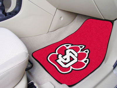 The USD Coyotes 2 Piece Carpeted University of South Dakota Car Floor Mat Set - FanMats 5990