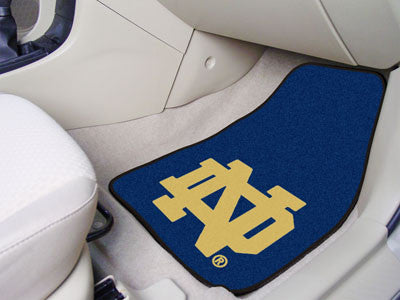The ND Fighting Irish 2 Piece Carpeted Notre Dame Car Floor Mat Set - FanMats 6059