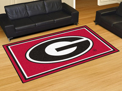 The UGA Bulldogs Area Rug Size 5x8, Fan Mats 6261