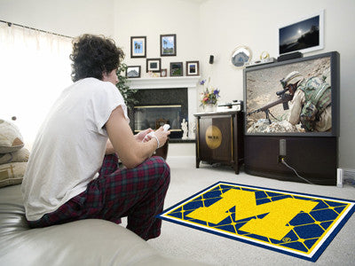 Michigan Wolverines 4' x 6' Area Rug - FanMats 6263