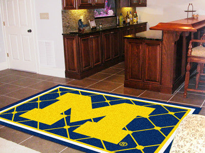 The Michigan Wolverines Area Rug Size 5x8, Fan Mats 6264
