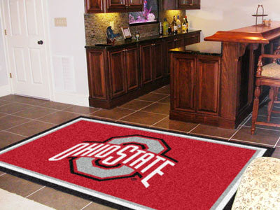 The OSU Buckeyes Area Rug Size 5x8, Fan Mats 6265