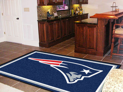 The 5x8 New England Area Rug for Patriots Man Caves