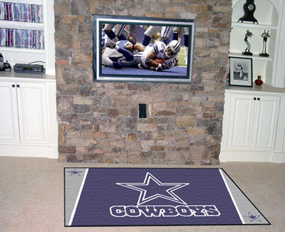 The 5x8 Dallas Area Rug for Cowboys Man Caves