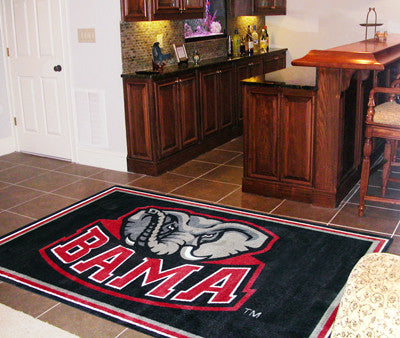 The Bama Crimson Tide Area Rug Size 5x8, Fan Mats 6275