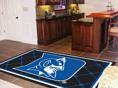 The Duke  Blue Devils Area Rug Size 5x8, Fan Mats 6279