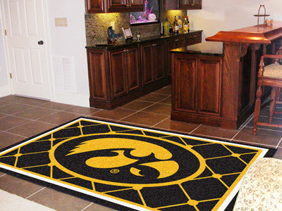 The Iowa Hawkeyes Area Rug Size 5x8, Fan Mats 6285