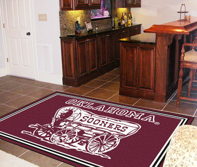 The OU Sooners Area Rug Size 5x8, Fan Mats 6298