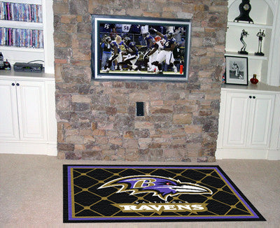 The 5x8 Baltimore Area Rug for Ravens Man Caves