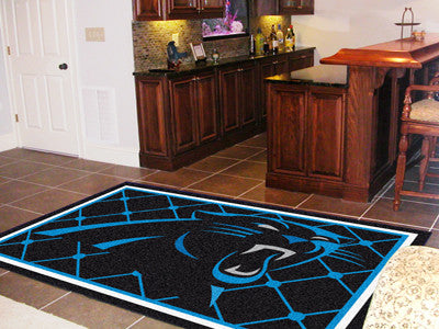 The 5x8 Carolina Area Rug for Panthers Man Caves