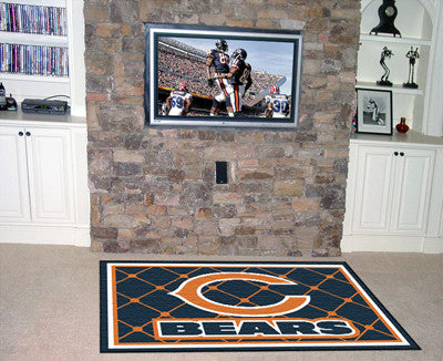 The 5x8 Chicago Area Rug for Bears Man Caves
