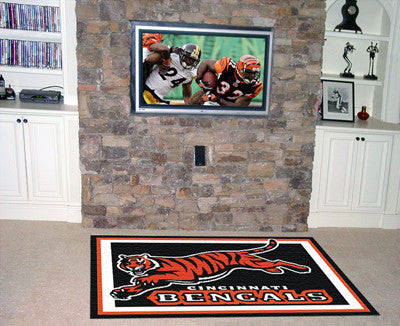 The 5x8 Cincinnati Area Rug for Bengals Man Caves