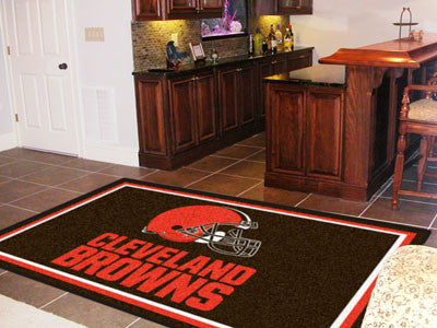 The 5x8 Cleveland Area Rug for Browns Man Caves