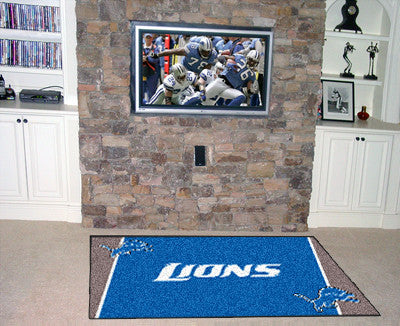 The 5x8 Detroit Area Rug for Lions Man Caves
