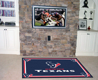 The 5x8 Houston Area Rug for Texans Man Caves