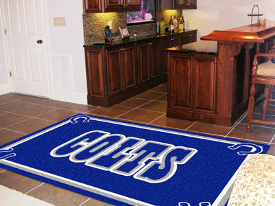 The 5x8 Indianapolis Area Rug for Colts Man Caves