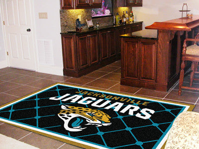 The 5x8 Jacksonville Area Rug for Jaguars Man Caves