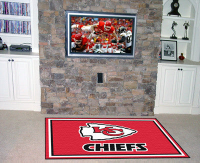 The 5x8 Kansas City Area Rug for Chiefs Man Caves