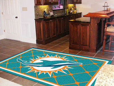 The 5x8 Miami Area Rug for Dolphins Man Caves