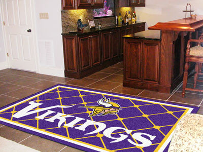 The 5x8 Minnesota Area Rug for Vikings Man Caves
