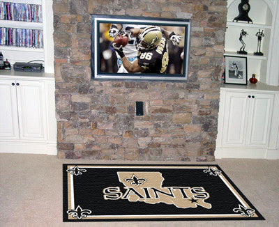 The 5x8 New Orleans Area Rug for Saints Man Caves