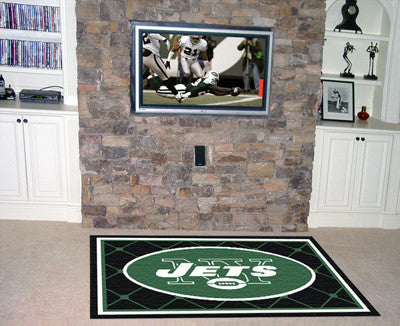 The 5x8 New York Area Rug for Jets Man Caves