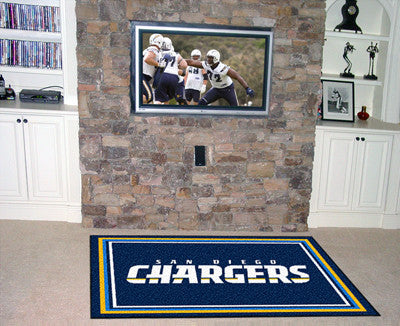 The 5x8 San Diego Area Rug for Chargers Man Caves