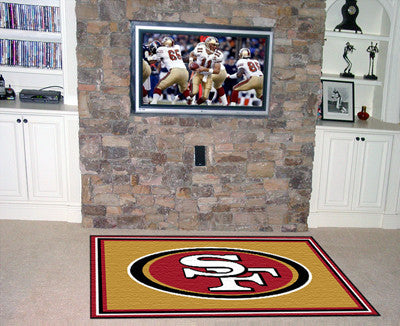 The 5x8 San Francisco Area Rug for 49ers Man Caves