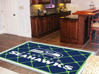 The 5x8 Seattle Area Rug for Seahawks Man Caves