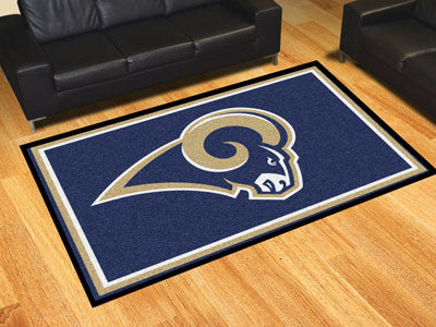 The 5x8 Los Angeles Area Rug for Rams Man Caves