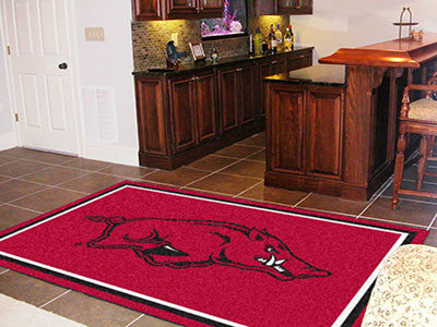The Arkansas Razorbacks Area Rug Size 5x8, Fan Mats 6616