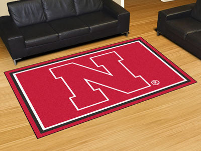 The Nebraska Cornhuskers N Logo Area Rug Size 5x8, Fan Mats 6651