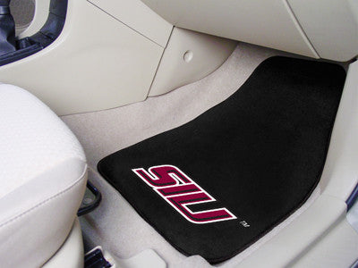 The SIU Salukis 2 Piece Carpeted Southern Illinois University Car Floor Mat Set - FanMats 6739