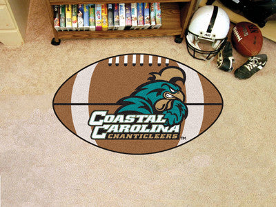 Coastal Carolina Man Cave Game Room Football Rug 22x35