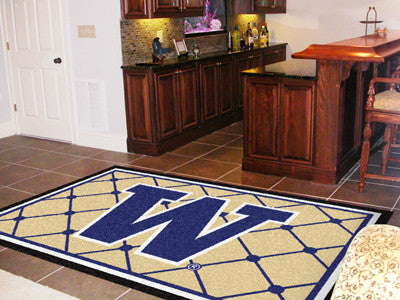 The UW Huskies Area Rug Size 5x8, Fan Mats 6784