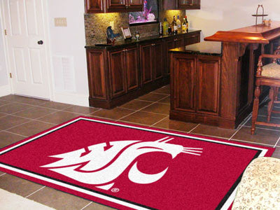 The WSU Cougars Area Rug Size 5x8, Fan Mats 6787