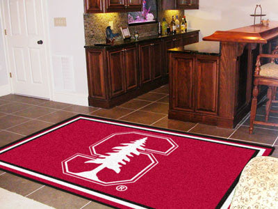 The Stanford Cardinal Area Rug Size 5x8, Fan Mats 6800