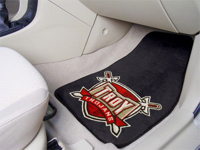 The Troy Trojans 2 Piece Carpeted Troy University Car Floor Mat Set - FanMats 6833