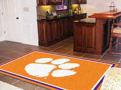 The Clemson  Tigers Area Rug Size 5x8, Fan Mats 6837