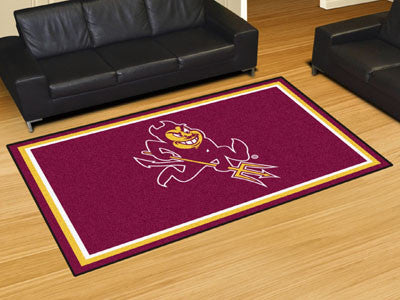 The ASU Sun Devils Area Rug Size 5x8, Fan Mats 6858