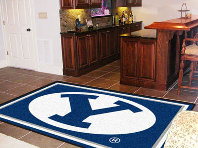 The BYU Cougars Area Rug Size 5x8, Fan Mats 6987