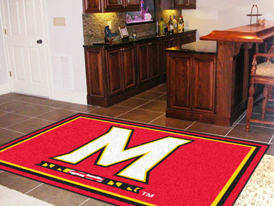 The UM Terrapins Area Rug Size 5x8, Fan Mats 6991