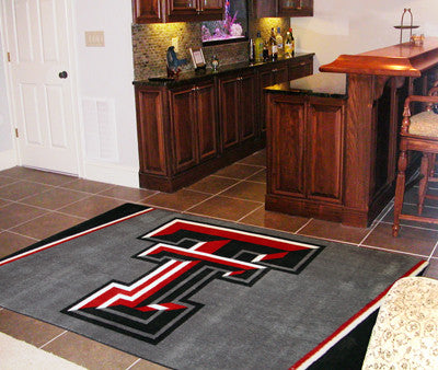 The TTU Red Raiders Area Rug Size 5x8, Fan Mats 6993